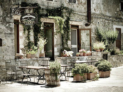 Photograph - Romantic Italian Osteria by T-lorien