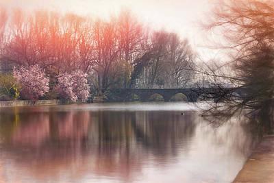 Wall Art - Photograph - Romantic Minnewater Lake Bruges Belgium  by Carol Japp