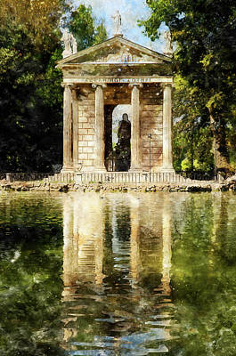 Painting - Rome, Ancient Temple Of Aesculapius - 07 by Andrea Mazzocchetti