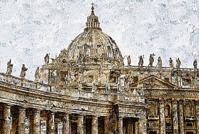 Painting - Rome And The Vatican City - 10 by Andrea Mazzocchetti