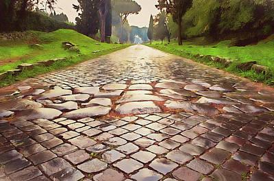 Painting - Rome, Appian Way - 06 by Andrea Mazzocchetti