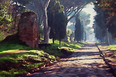Painting - Rome, Appian Way - 07 by Andrea Mazzocchetti