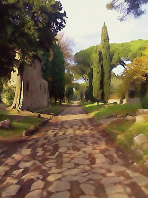 Painting - Rome, Appian Way - 08 by Andrea Mazzocchetti