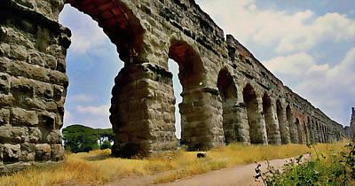 Painting - Rome, Appian Way - 10 by Andrea Mazzocchetti