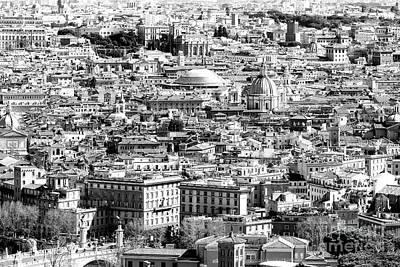 Photograph - Rome Cityscape Four by John Rizzuto