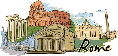 Digital Art - Rome In A Day by Stanley Mathis