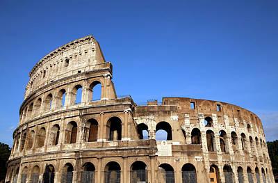 Photograph - Rome Italy Colloseum by Laughingmango