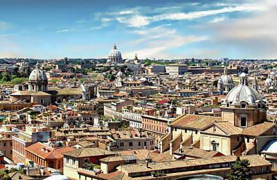 Photograph - Rome Panoramic by Anthony Dezenzio