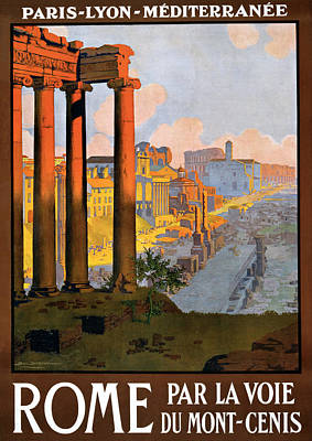 Photograph - Rome Travel Poster by Graphicaartis