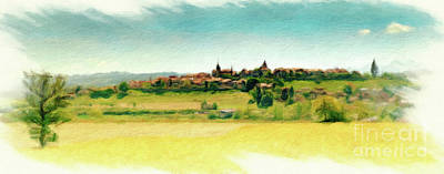 Digital Art - Romont Cityscape 2 by DiFigiano Photography