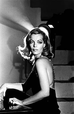 Photograph - Romy Schneider On The Set Of Les by Giancarlo Botti