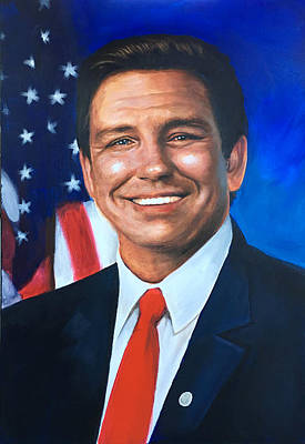 Painting - Ron Desantis For Governor Of Florida by Robert Korhonen