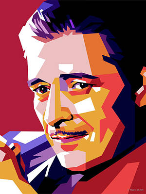 Colorful Button - Ronald Colman by Stars on Art
