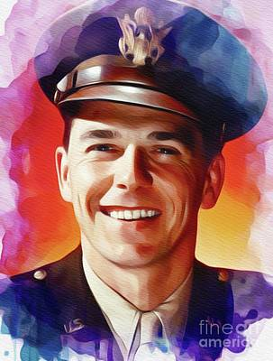 Politicians Paintings - Ronald Reagan, Actor and President by John Springfield