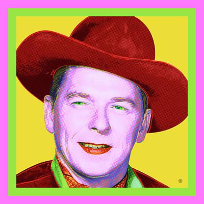 Digital Art - Ronald Reagan by Gary Grayson