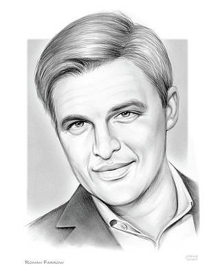Drawings Royalty Free Images - Ronan Farrow Royalty-Free Image by Greg Joens