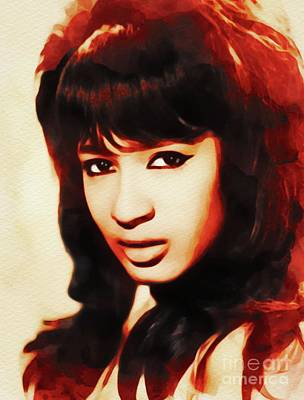 Music Paintings - Ronnie Spector, Music Legend by Esoterica Art Agency