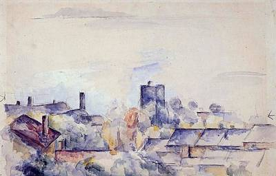 Mellow Yellow - Roof in L Estaque 1878 82 by Paul Cezanne Paintings