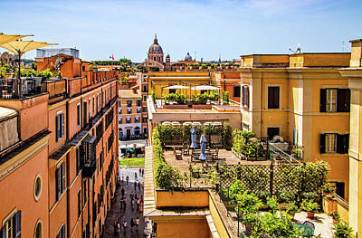 Photograph - Rooftops In Rome by Carolyn Derstine