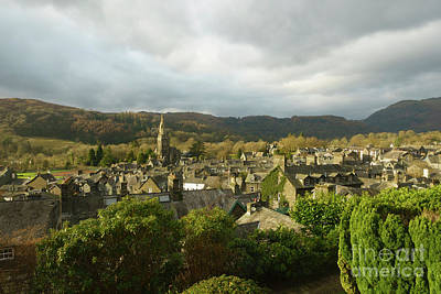 Ambleside Wall Art - Photograph - Rooftops Of Ambleside In Early Morning In The Lake District by Louise Heusinkveld