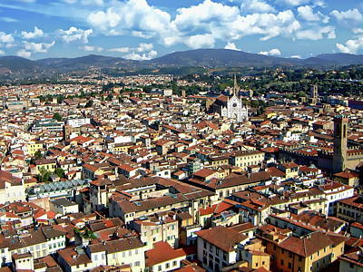 Photograph - Rooftops Of Florence by Anthony Dezenzio
