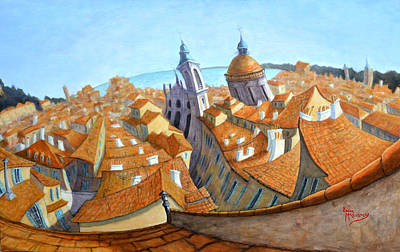 Painting - Rooftops Of Old Nice by Linda Mccluskey