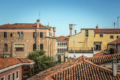Caravaggio - Rooftops Venice by John Angelo Lattanzio