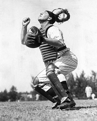 Photograph - Rookie Catcher Warren Buddy Rosar Works by New York Daily News Archive