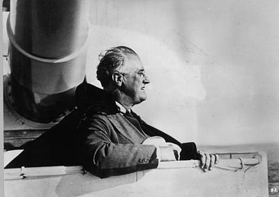 Roosevelt At Sea Art Print by Keystone