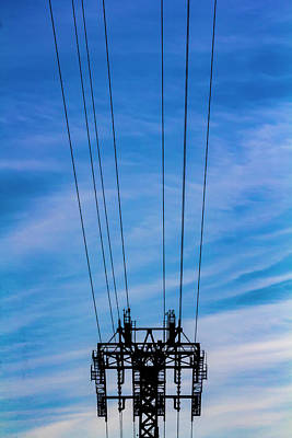 Photograph - Roosevelt Island Tram Cables And Pylon by Robert Ullmann