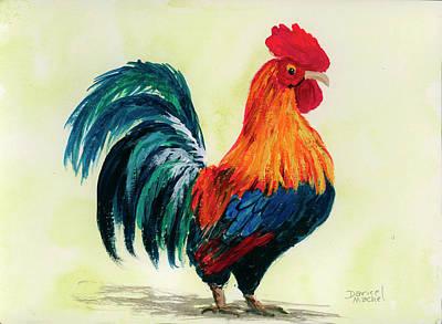 Painting - Rooster 2 by Darice Machel McGuire