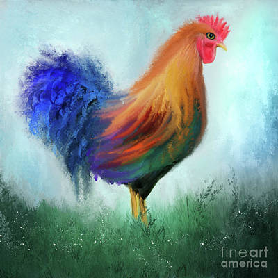 Rooster Art Print by Anne Vis