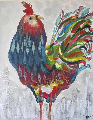 Wall Art - Painting - Rooster by Kaley Alie