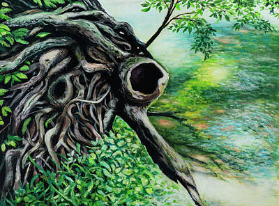 Painting - Roots By The Creek by David Burke