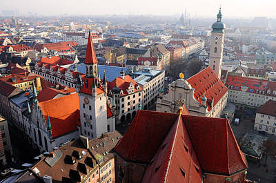 Photograph - Rooves Of Munich by Copyrights By Sigfrid López
