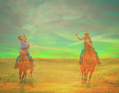 Photograph - Ropin' Two by Amanda Smith