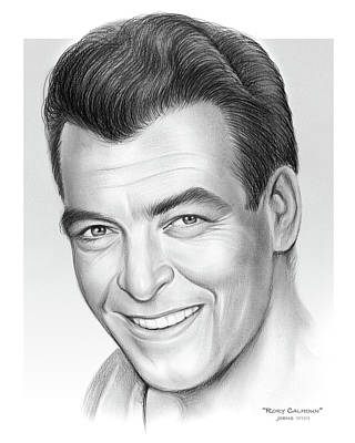 Drawings Royalty Free Images - Rory Calhoun Royalty-Free Image by Greg Joens