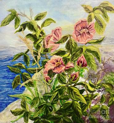 Painting - Rosa By The Sea by Gail Allen