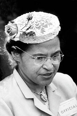 Photograph - Rosa Parks by Paul Schutzer