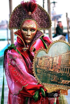 Photograph - Rosa Rossa Carnevale Di Venezia by John Rizzuto