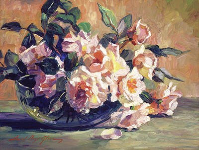 Painting - Rose Bowl by David Lloyd Glover