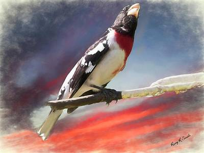 Digital Art - Rose-breasted Grosbeak by Rusty R Smith