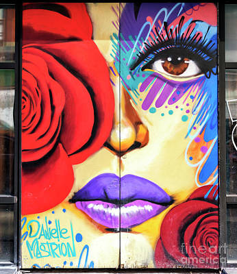Photograph - Rose Graffiti New York City by John Rizzuto