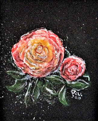 Painting - Rose In Light by Clyde J Kell