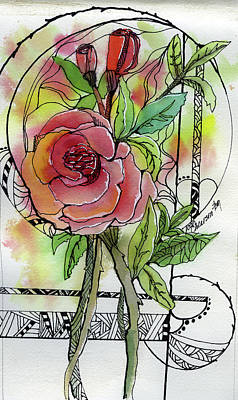Painting - Rose Is Rose by Joan Chlarson