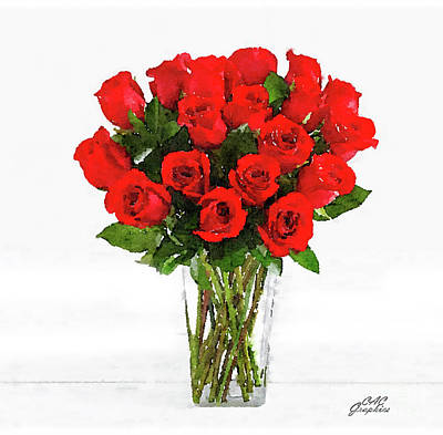 Painting - Roses by CAC Graphics