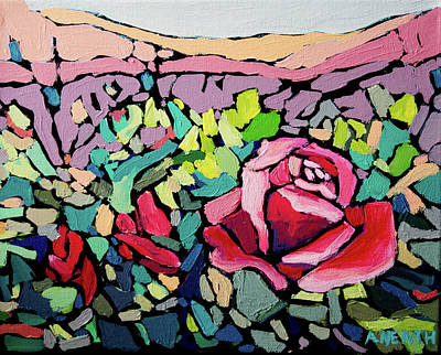Wall Art - Painting - Roses In Bloom by Alison Newth