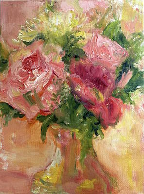 Painting - Roses In Gold by Quin Sweetman