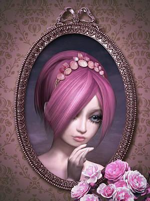 Mixed Media - Roses Unreachable by Britta Glodde