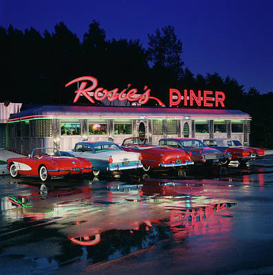 Photograph - Rosies Diner by Car Culture